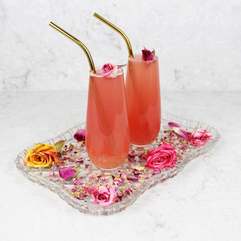 rose lemonade mocktail recipe