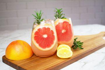 grapefruit mocktail rosemary
