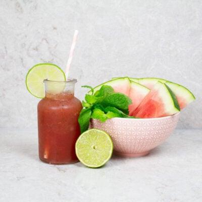 mocktail recipe watermelon lime mint