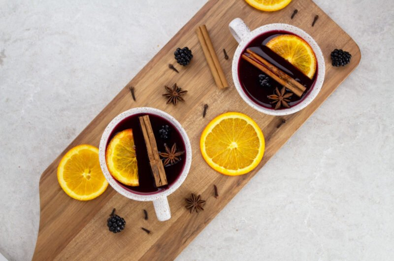 Non Alcoholic Mulled Wine Pomegranate