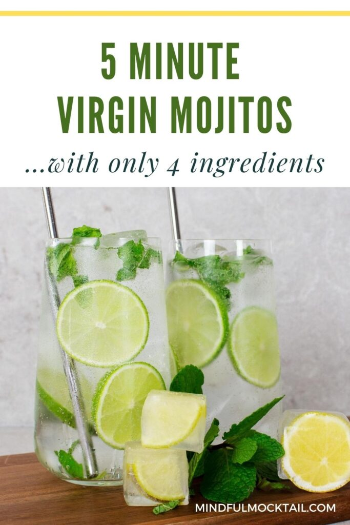 virgin mojito with mint