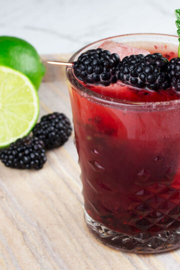 easy mocktail recipe blackberry