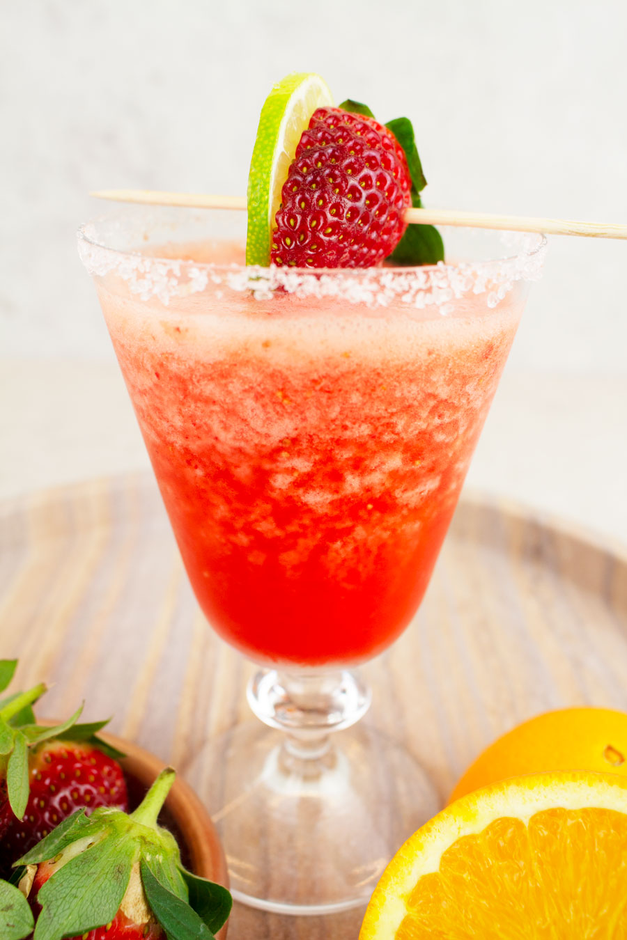 Virgin Strawberry Daiquiri Easy Virgin Strawberry Margarita Healthy