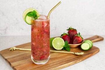 strawberry cucumber cooler mocktail