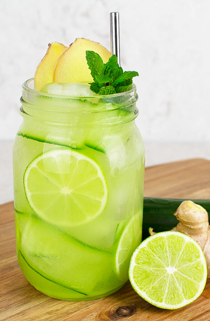 virgin mojito mocktails with ginger lime and mint
